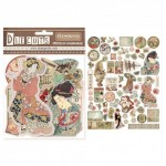 CHIPBOARD - THE CUTS TEKTUROWE ORIENTAL GARDEN 60SZT DFLDC04 STAMPERIA