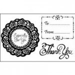 STEMPEL AKRYLOWY 1SZT Thank You  WTK127 STAMPERIA