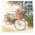 SERWETKA HOME FASHION   Flower Bike 211503