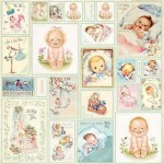 PAPIER 30x30 - NEW BABY BORN 07 elementy do wycinania CRAFT&YOU