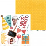 PAPIER 30x30 - Happy Birthday 01  P13-408 PIĄTEK 13-STEGO
