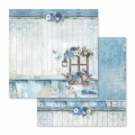 PAPIER 30x30 - SBB561 BLUE LAND STAMPERIA