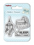 STEMPEL AKRYLOWY 3SZT Mother's Treasure - Sleep when ScrapBerry's SCB4907026