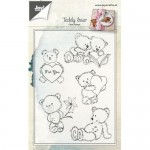 STEMPEL AKRYLOWY 5szt Teddy bear JOY!CRAFTS 6410/0460