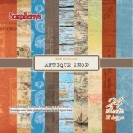 PAPIER 15X15 (6X6) - Antique Shop 170 gsm 24SZT ScrapBerry's SCB220606008g
