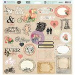 DODATKI CHIPBOARD PRIMA Something Blue 34szt 813734