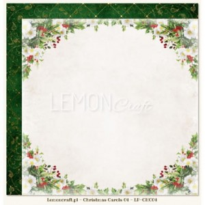 PAPIER 30x30 - CHRISTMAS CAROLS 04 LEMONCRAFT LP-CHC04