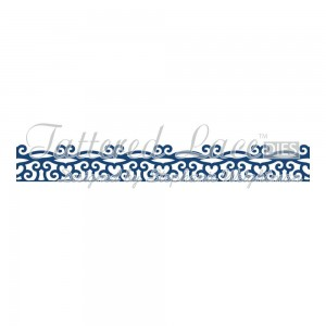 TATTERED LACE WYKROJNIK CHELSEA BORDER D314