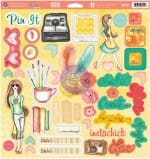 DODATKI CHIPBOARD PRIMA Bloom Collection 46szt 980153