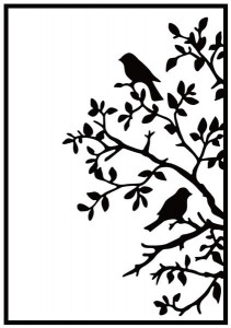 FOLDER DO EMBOSSINGU 106X150mm BIRDS ON BRANCH HSF017 NELLIE'S